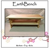 Meditation Bench ~ 10'' tall Personal Altar Table by EarthBench: YELLOW PINE (28'' by 11'' by 10'' tall)
