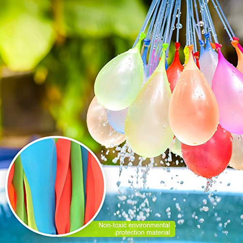MAOXIAN Water Balloons for Kids Girls Boys Balloons Set Party Games Quick Fill Water Balloons (592 Pack) Swimming Pool Outdoor Summer Fun by MAOXIAN (Image #3)