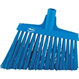 Vikan 29143 Heavy Duty Sweep Floor Broom Head, PET Bristle, Polypropylene Block, 11'', Blue