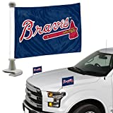 ProMark Atlanta Braves 2-Pack Ambassador Style Auto Flag Car Banner Set Baseball