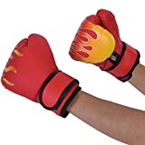 Kids Boxing Gloves, Fighting Muay Thai Sparring Punching Kick Grappling Sandbag MMA Training Glove for Youth Age 7-13 Years