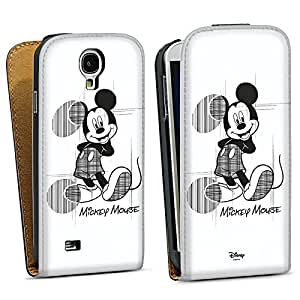 Samsung Galaxy S4 funda carcasa Downflip negro - Mickey Mouse incompleto