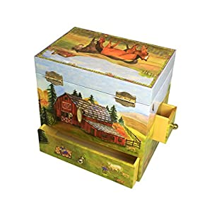 Enchantmints Horse Ranch Music Jewelry Box