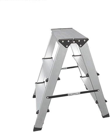 Jia He Taburete de plástico para niños Taburete de paso, Escalera plegable del hogar heces grueso Escalera de Aluminio Banco de doble cara Escalera Paso dos Escalera plegable de tres Escalera plegable: