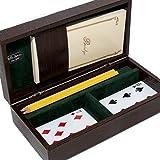 Bello Games Collezioni - Via Rizoli Luxury Card Set in Genuine Lizard from Italy