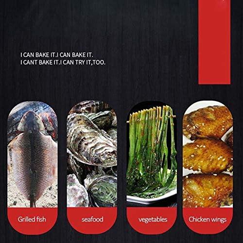 CHUIX Acciaio Inossidabile Barbecue Cartello, 9 a Forma di Strumento Barbecue con Gancio 30cm Hanging Fornace Segnale, 50Pcs Utensili Barbecue, Nastro