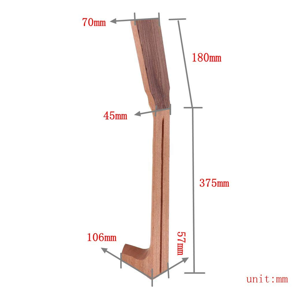 MagiDeal Unfinished Acoustic Guitar Neck Mahogany Neck for Martin Guitar Replacement by non-brand (Image #4)