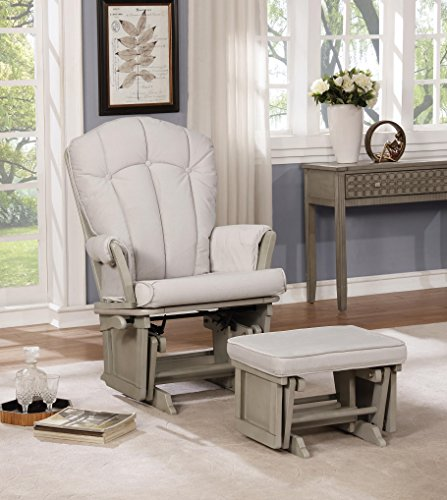 - Naomi Home Vara Multiposition Glider & Ottoman Set Gray/Gray