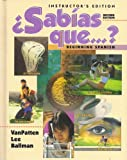 Sabías Que-- ? : Beginning Spanish, VanPatten, Bill and Lee, James F., 0070672334