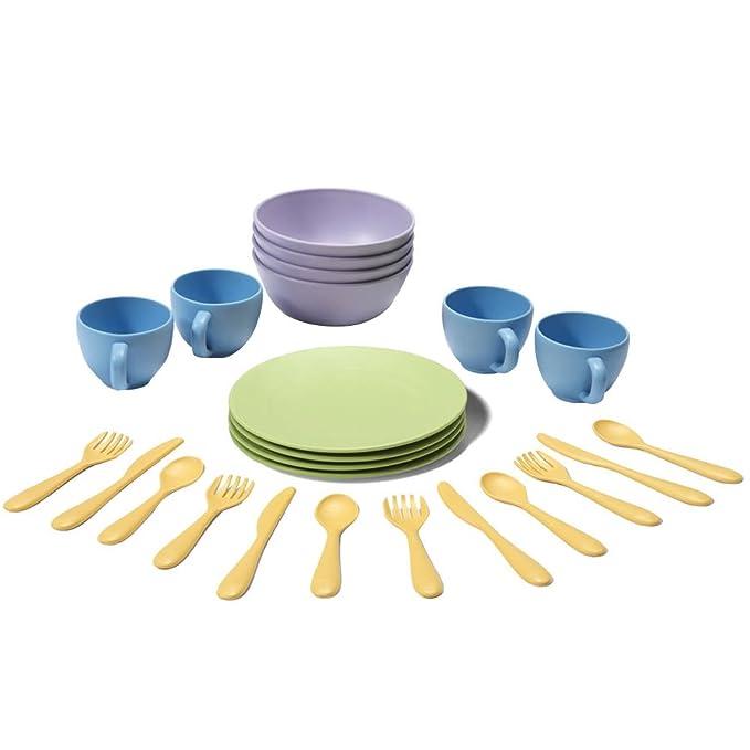Matschküche Zubehör - Spielküche Garten - Puppengeschirr Green Toys