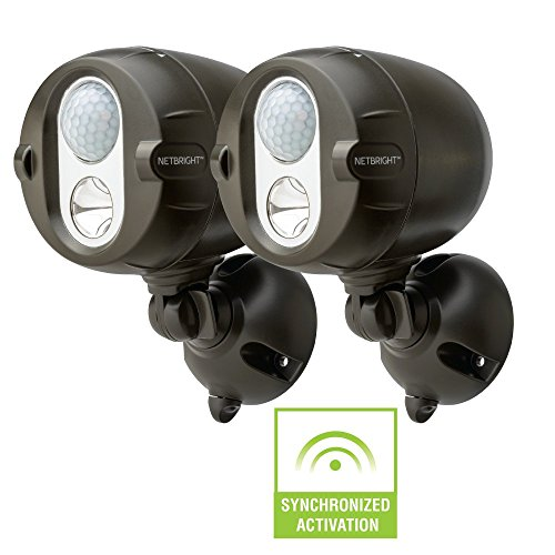 Mr Beams MBN352 Networked LED Wireless Motion Sensing Spotlight System with NetBright Technology, 200-Lumens, Brown, 2-Pack (Mall The Perimeter)
