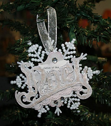 christmas ornament noel snowflake ornament shabby chic pink snowflake - Handmade Shabby Chic Christmas Decorations