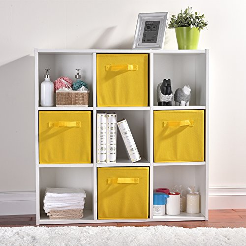 Wtape Practical Foldable Cube Storage Bins, 2-Pack Fabric Drawers, Yellow by Wtape (Image #1)