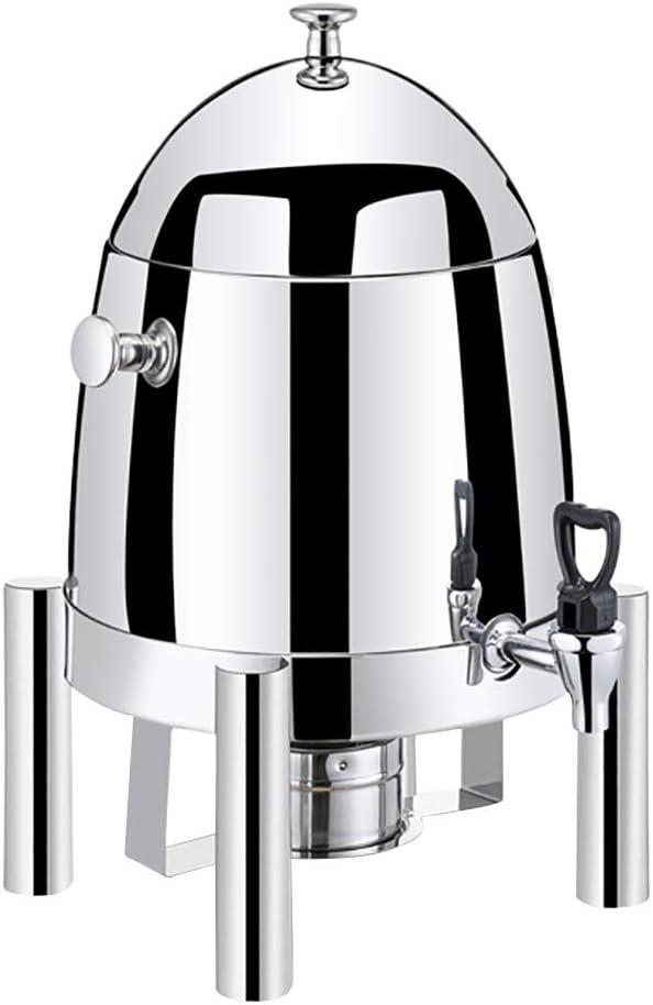 X-L-H 12L飲料ディスペンサー、電気加熱飲料ディスペンサー、ステンレス蛇口、ふた付き、水用、ジュース、ビール、コーヒー、ワイン、白ワイン (Color : Steel B, Size : Alcohol)