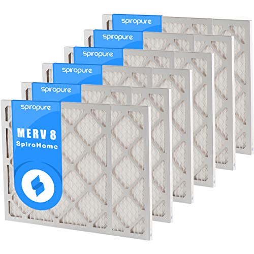 SpiroPure 19X30X1 MERV 8 Pleated Air Filters - Made in USA (6 Pack) ()