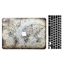 Old MacBook Pro 13'' Regular Display Case, AICOO 2-in-1 Beautiful Hard Case Cover With Keyboard Skin Protector For MacBook Pro 13.3 inch With CD-ROM (A1278), Ancient Map