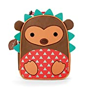 Skip Hop Zoo Kids Insulated Lunch Box, Hudson Hedgehog, 9 x3.25 x7.5 , Brown