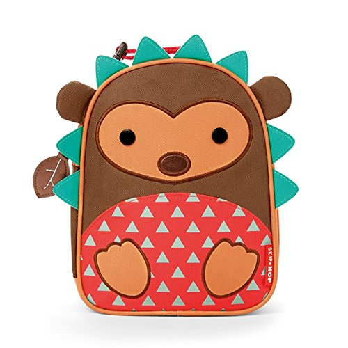 Girl Hedgehog - Skip Hop Zoo Kids Insulated Lunch Box, Hudson Hedgehog, Brown