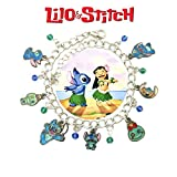Disney's Stitch Scrump Charm Bracelet Movie Series Jewelry Multi Charms - Wristlet - Outlander Gear Movie Collection