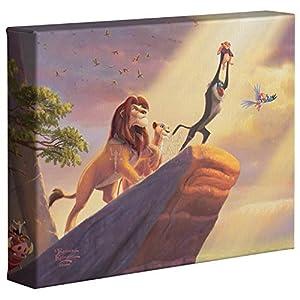 Thomas Kinkade Disney The Lion King 8 x 10 Gallery Wrapped Canvas