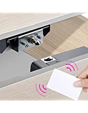 Electronic Cabinet Lock, Smart NFC Drawer Locks, Hidden DIY RFID Cards Lock for Wooden Cabinet Cupboard Pantry Drawer Locker Furniture (NFC Android Only)
