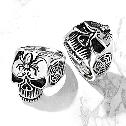 (Spider Web Skull Cast Ring 316L Stainless Steel (Size 13))