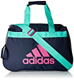 adidas Diablo Small Duffel Bag, Green/Bahia Magenta, One Size