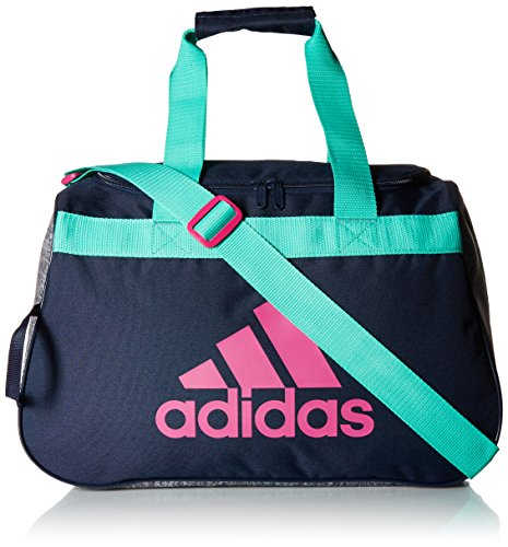 adidas Women's Diablo small duffel Bag, Green/Bahia Magenta, One Size