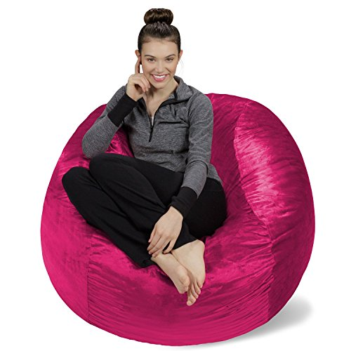 Sofa Sack-Bean BagsMemory Foam Bean Bag Chair, 4', Magenta (Magenta Bean Bag)