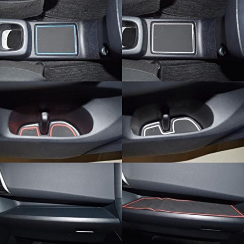 KINMEI Toyota Ractis Ractis P120 system specially designed blue interior door pocket mat drink holder slip non-slip storage space protection rubber mats TOYOTAk-41 by KINMEI (Image #2)