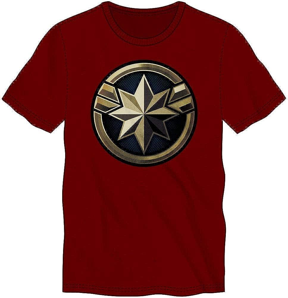 Marvel Clothing Captain Marvel Emblem Graphic Short-sleeve T-shirt