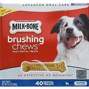 Milk Bone Brushing Chews (Small/Medium) 40 Dental Treats 31.4Oz By Milk-Bone 48