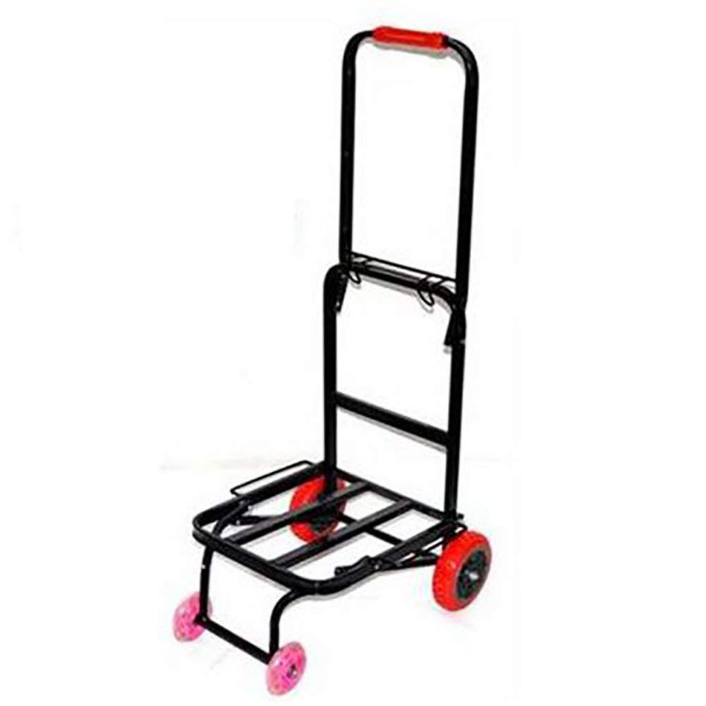 Zehaer Portable Trolley, ZGL Trolley Trolley Fold Shopping Cart Portable Hand Cart Baggage Small Cart Home Pull Rod Car Save Effort Trailer Hand Car (Color : Style-1) (Color : Style-2)