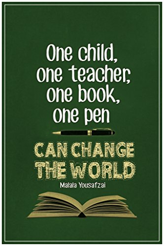 Malala Yousafzai One Child One Teacher One Book One Pen Can Change The World Quote Poster 12x18