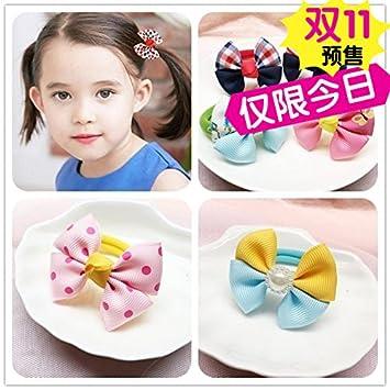 Korean children bow hair ring rubber band baby girls hair accessories hair  rope hair tie cute 5afe997d56f