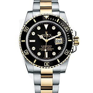 Best Epic Trends 515r%2B8TG02L._SS300_ Rolex Submariner Stainless Steel Yellow Gold Watch Diamond Dial 116613