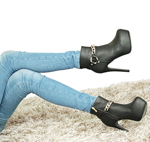 ROSELIGHT Stiefeletten Ankle Boots in Schwarz oder Braun Braun