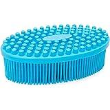 Agirlvct Silicone Loofah Body Scrubber,Exfoliating Silicone Scrubber,Shower Bath Loofa Brush Massaging Spa Gym,Birthday…
