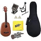 Oscar Schmidt OU2P Concert Size Pineapple Ukulele w/Stand, Gig bag and More