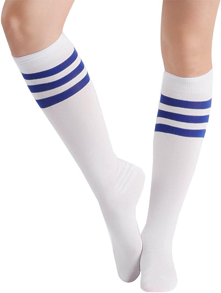SUTTOS Unisex Adults Over Cospaly Knee High Team Soccer Socks Youth Girls Kids Youth Boys Soccer Socks School Group Socks Chearleading Team Socks Pack of 10 Back Mens Soccer Socks