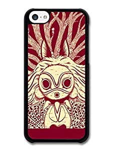 Princess Mononoke Little Forest Creatures Red and White Illustration case for iPhone 5C