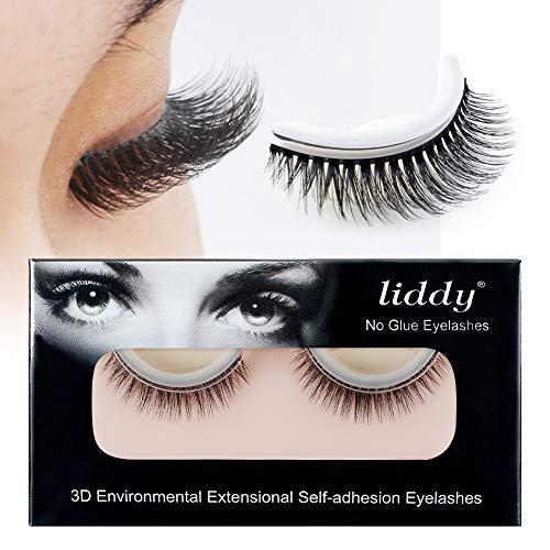 LIDDY 3D Lashes Self-adhesive False Eyelashes Makeup Reusable Natural Hand Made Fake Eyelashes- Natural Fashion Eye Lash Extensions for Fashion &Makeup (3D-05) ()