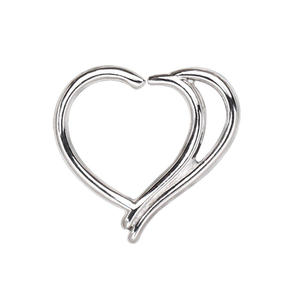 d726d4895 316L Stainless Steel Double WildKlass Heart Cartilage Earring