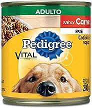 Ração Úmida Para Cachorros Pedigree Lata Patê de Carne Adultos 280g