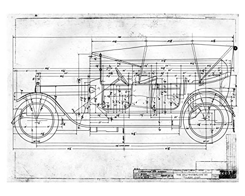 Amazon 1913 willys 7 passenger car photo of factory blueprint 1913 willys 7 passenger car photo of factory blueprint malvernweather Gallery