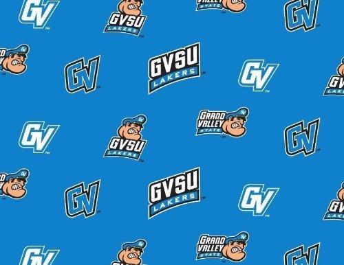 Fleece Grand Valley State University Lakers GVSU Turquoise College Fleece Fabric Print by The Yard #sgvsu035s