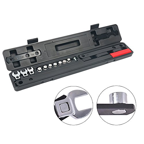 8milelake16 Pcs Ratcheting Wrench Serpentine Belt Tool Set Kit Automotive Repair Set Sockets