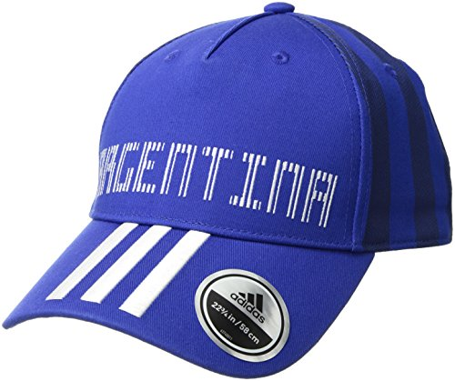 adidas World Cup Soccer Argentina Country Fashion Cap, One Size, Bold Blue/White