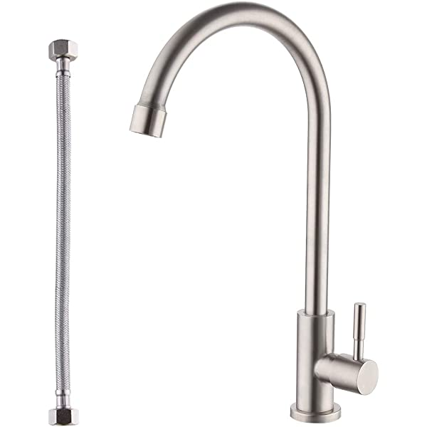 Kes Drinking Water Faucet Kitchen Sink Faucet For Cold Water Only Single Handle Bar Modern Replacement Tap Brushed Nickel K8001alf Bn Amazon Com