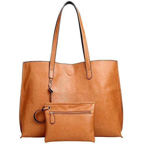 - Women Tote Bag,Oversized Reversible Versatile Staple Lady Shoulder Bag Large Purse Commuter Bag